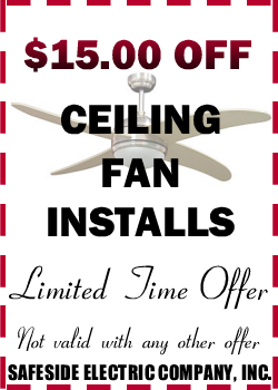 $15.00 Off Ceiling Fan Installs
