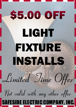 $5.00 Off Light Fixture Installs